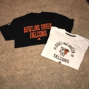 2 men's L Bowling Green State University shirts